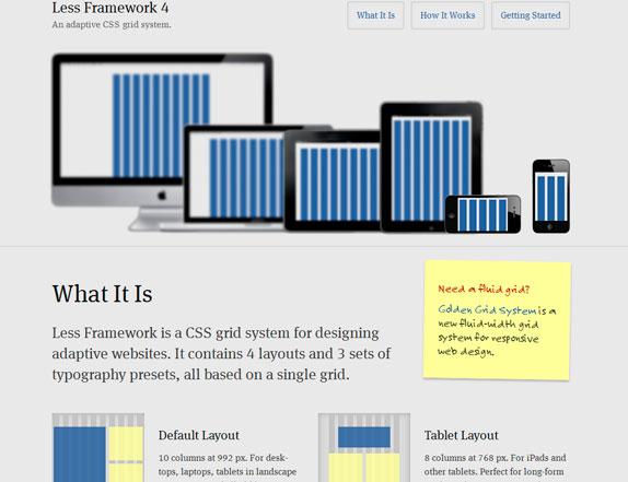 Frameworks de css para el desarrollo web regoremor less framework es un framework de css para el diseo de sitios web adaptativos contiene cuatro disposiciones y 3 juegos tipografas construidas para ser malvernweather Images