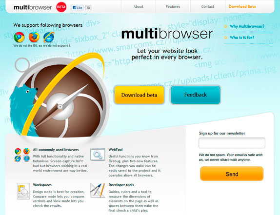 Página web de Multibrowser