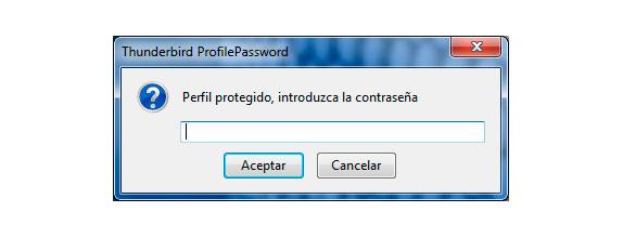 Mozilla Thunderbird ProfilePassword Activado