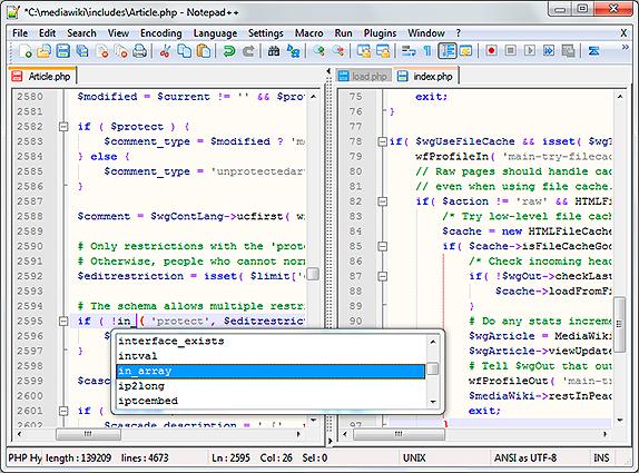 Editor de texto Notepad++